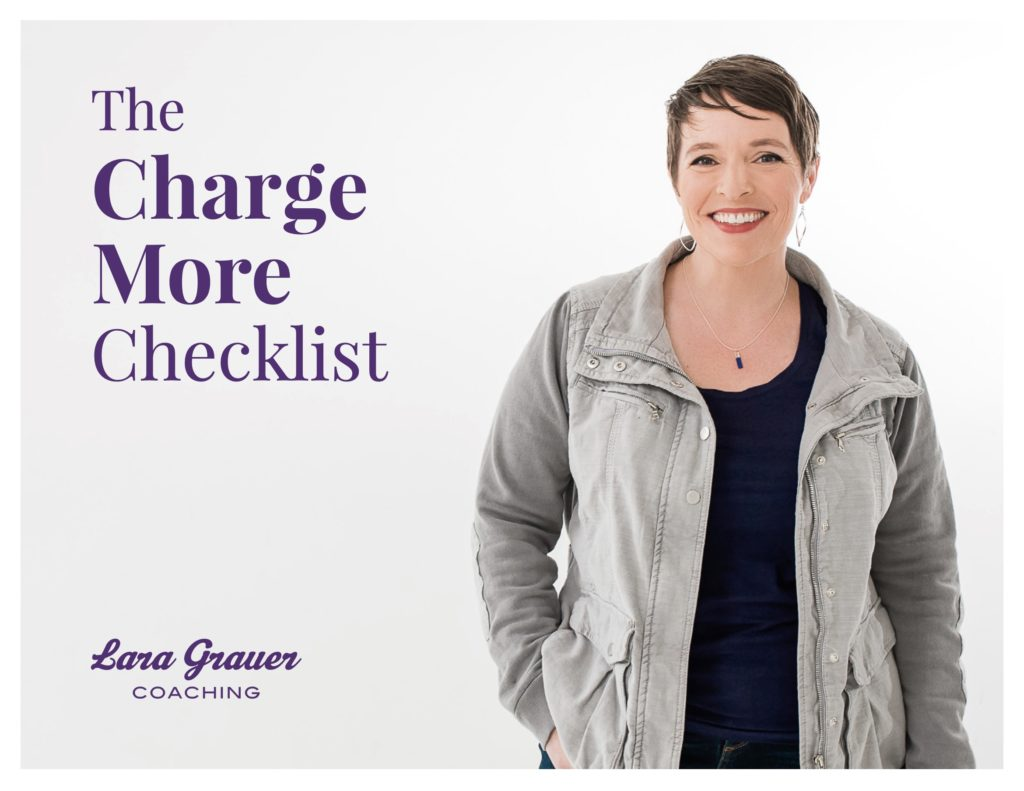 Cover of Lara Grauer's Charge More Checklist